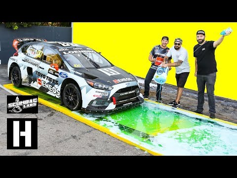 Can Dish Soap Stop a 600hp AWD Rallycross Car from Launching??