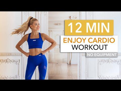 12 MIN ENJOY CARDIO - a good mood cardio session, LET'S HAVE FUN! / Pamela Reif