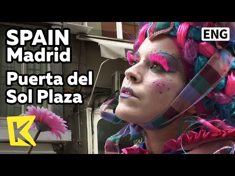 【K】Spain Travel-Madrid[스페인 여행-마드리드]푸에르타 델 솔 광장, 익살스런 거리 예술가/Puerta del Sol Plaza/Artist
