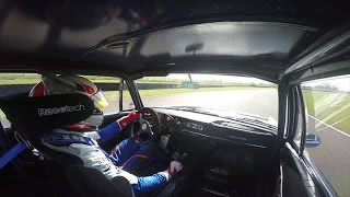 On board: Ollie Webb in a BMW 1800 Ti at Goodwood