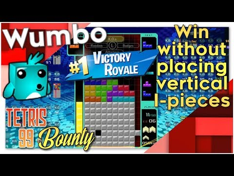 """Tetris 99 Bounty - """"Win without placing any I blocks Vertical"""""""