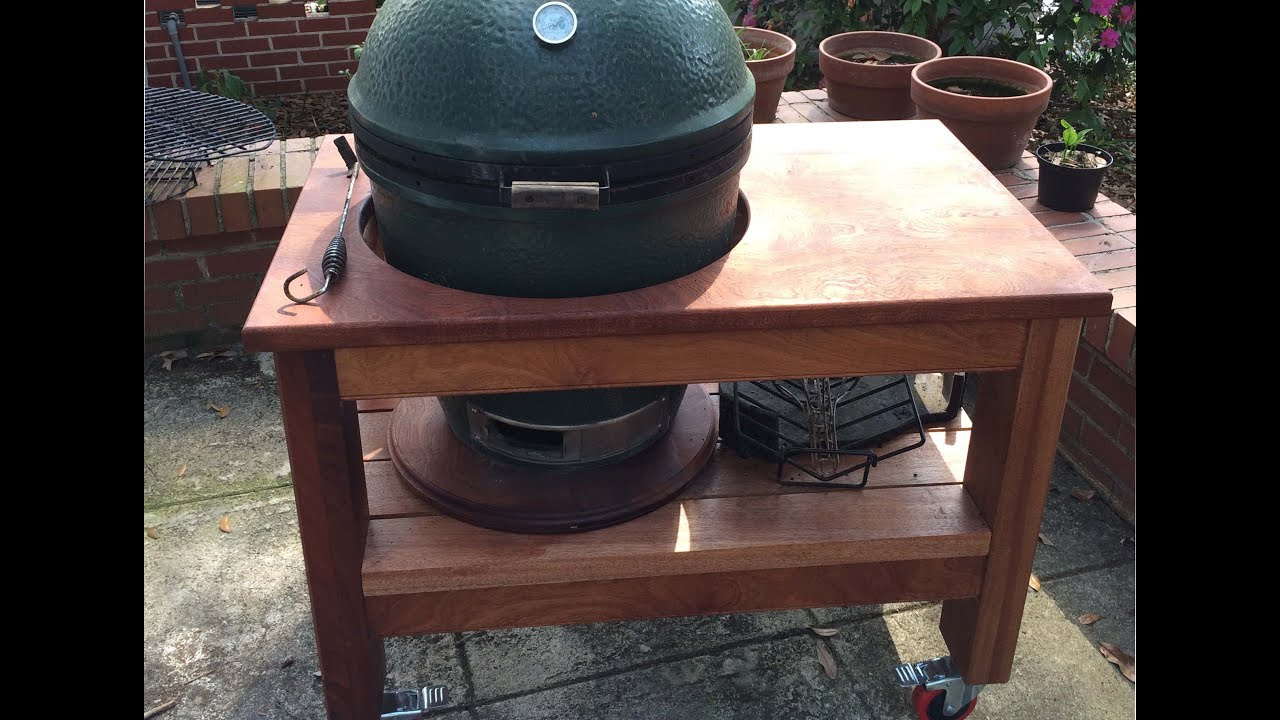 Building Big Green Egg Table   YouTube