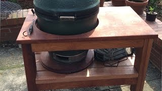 Building Big Green Egg Table