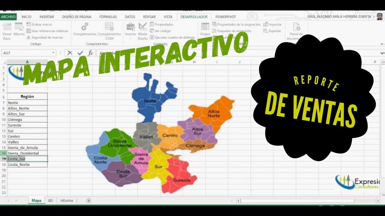 MAPA INTERACTIVO en Excel para crear Reportes Dinámicos