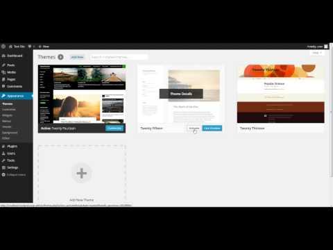 WordPress 101: How to Install a WordPress Theme 2015