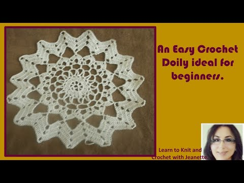 An Easy Crochet Doily Ideal For Beginners Youtube