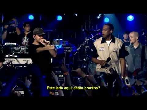 Linkin Park e JayZ  99 ProblemsPoints of AuthorityOne Step Closer  Legendado em ptBR