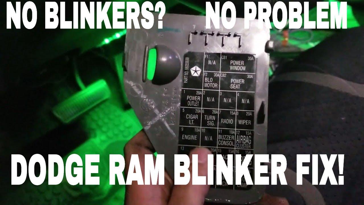 Dodge Ram No Blinkers 2nd Gen How To Fix Mins