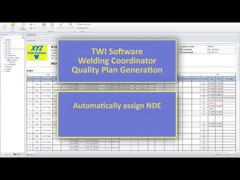 Welding Coordinator - Quality Plan Generation