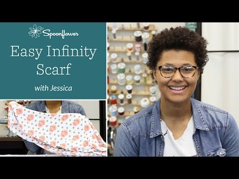 Make Your Own 30 Minute Infinity Scarf   Spoonflower - YouTube