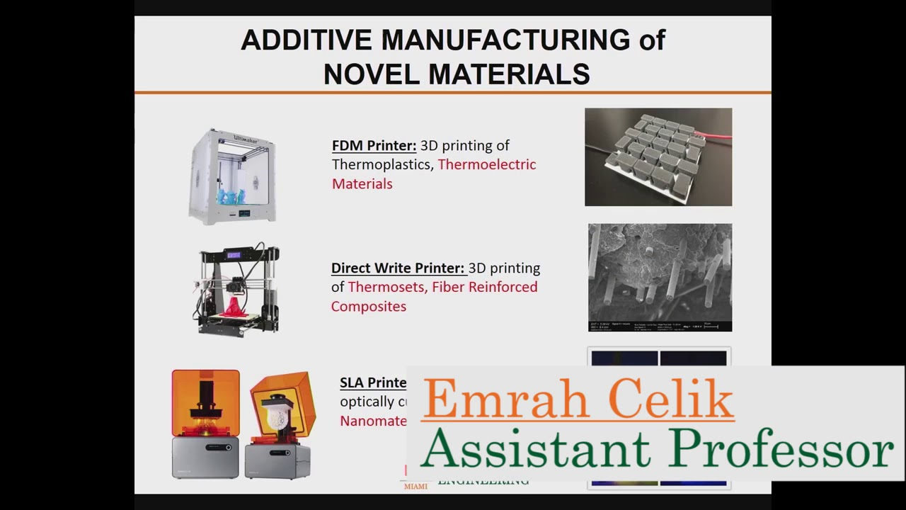 Research Day - Materials and Additive Manufacturing Speaker Session
