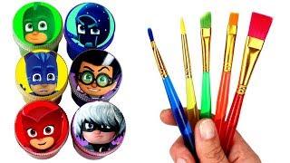 PJ Masks Drawing Catboy Owlette Gekko Romeo Night Ninja Luna Girl PJ Masks Surprise Toys