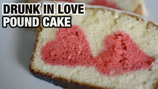 Valentine's Day DESSERT: hidden heart liquor infused pound cake