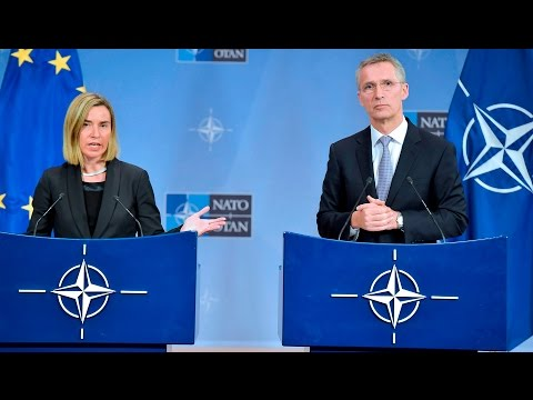 NATO Secretary General with EU High Representative for Foreign Affairs, 06 DEC 2016, Part 1/2