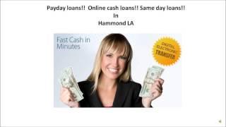Payday loans in Hammond LA