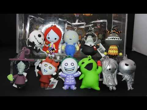 Lot of 3 The Nightmare Before Christmas Figural Keyring Series 3 Blind Packs NEW