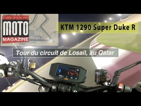 KTM 1290 Super Duke R : tour du circuit de Losail, au Qatar