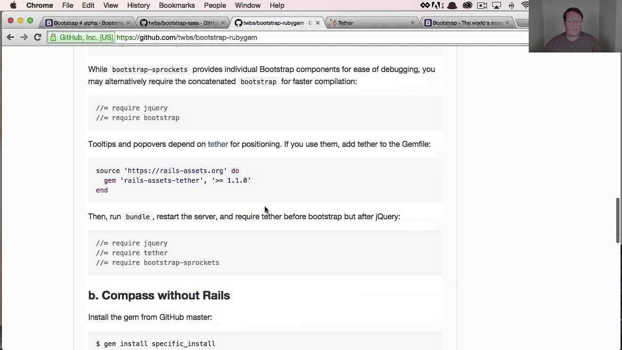 Using Bootstrap 4 Rubygem with Rails (Example) | GoRails