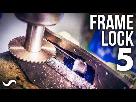 MAKING A FRAME-LOCK FOLDING KNIFE!!! PART 5