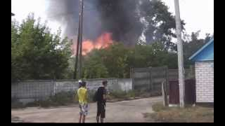 склады лесопилки горят