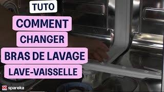 Remplacer les bras de cyclage d'un lave-vaisselle