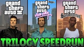 GTA 3D Trilogy Speedrun - GTA III, Vice City, & San Andreas