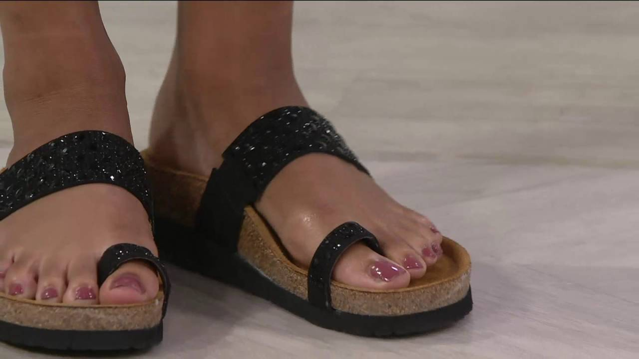 253b7a97647c Naot Embellished Leather Slide Sandals - Nevada on QVC - YouTube