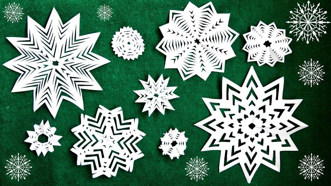 Несложные снежинки из бумаги своими руками фото 328