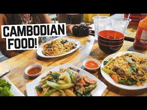 Delicious CAMBODIAN STREET FOOD! Khmer Noodles + Exploring Phnom Penh