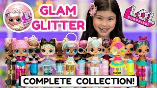 L.O.L. SURPRISE GLAM GLITTER COMPLETE COLLECTION | LOL SURPRISE GLITTER SERIES 2 DOLLS FULL CASE SET