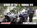 Yamaha R15 V3 Vs Suzuki Gixxer Sf Comparison | Hindi | Motoroctane