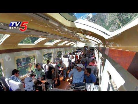 Suresh Prabhu Flags Off Trial Run of Glass Roof Coaches Between Visakhapatnam and Araku | TV5 News