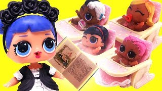 LOL Surprise Dolls Nursery, Camping Trip and Barbecue Party & Unboxings with Playmobil Sets!