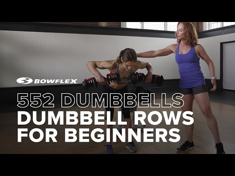 Bowflex® How-To   Dumbbell Row for Beginners