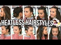 HEATLESS HAIRSTYLES FOR SHORT HAIR!! | Oliviagrace