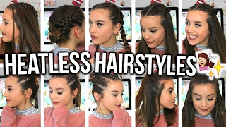 One of Olivia Grace's most viewed videos: HEATLESS HAIRSTYLES FOR SHORT HAIR!! | Oliviagrace