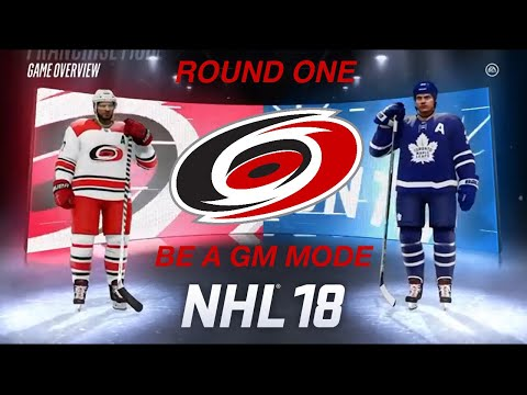 Round One VS Toronto Maple Leafs (NHL 18 Be a GM)