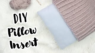 Sew or No Sew Tutorial | DIY Pillow Insert