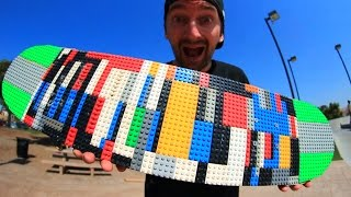 One of Braille Skateboarding's most viewed videos: LEGO SKATEBOARD! | YOU MAKE IT WE SKATE IT EP 26