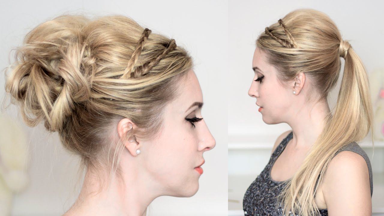 braided headband updo hairstyles for christmas holidays. Black Bedroom Furniture Sets. Home Design Ideas