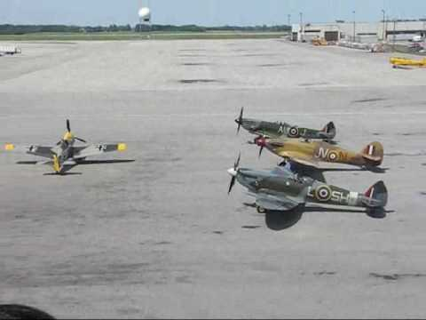Start-Up and Taxi of Vintage Fighter Aircraft