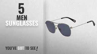 G-Star Raw Sunglasses [ Winter 2018 ]: G-Star Raw Men's GS110S Aviator Sunglasses, Gunmetal, 56 mm