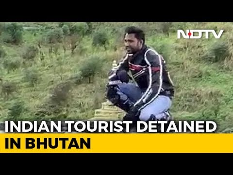 Indian Tourist On Camera Climbing Stupa In Bhutan Sparks Anger