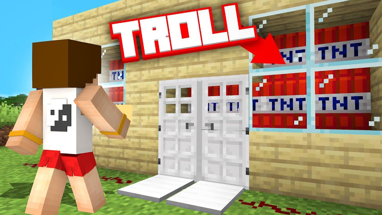 MİNECRAFT'TA ARKADAŞINIZI TROLLEMEK İÇİN 8 YÖNTEM - Minecraft