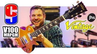 new guitar day - vintage v100 mrpgm (greeny moore)