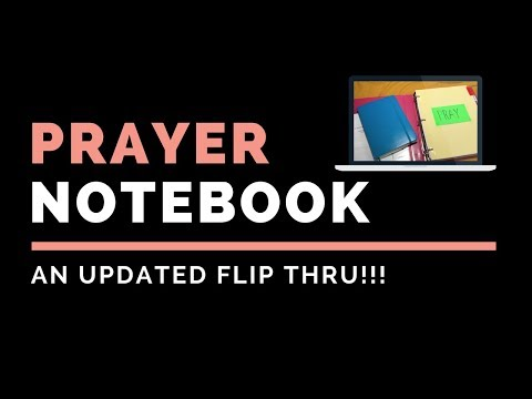 My Updated Prayer Notebook Flip Thru