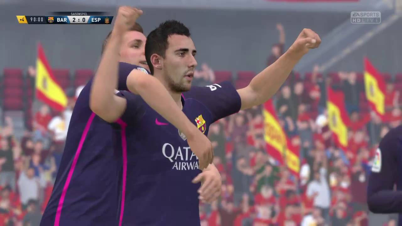 Fifa 17 Paco Alcacer Nice Distance Goal Youtube