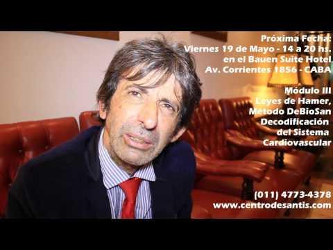 Dr. Antonio De Santis en Bauen Suite Hotel - Escuela de Decodificación Un Enfoque Médico