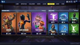 Dark Vanguard & Wukong & Tomatohead Skins Back! Fortnite Item Shop March 27, 2019