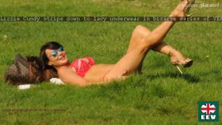 Lizzie Cundy strips down to lacy underwear in bizarre series of VERY racy snaps